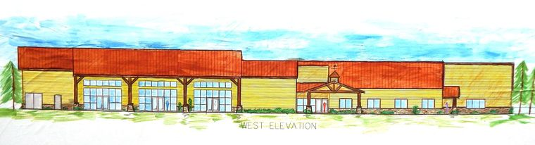 Drawing of new building